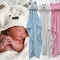 Forma animal lindo bebé con capucha albornoz baño towel bebé polar manta de recepción neonatal con respecto a ser niños de los niños lactantes de baño