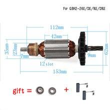 AC220V 240V wirnik silnika kotwicznego dla BOSCH GBH2 26 GBH2 26E/RE/DE GBH2 26DRE GBH2 26DFR GBH2600