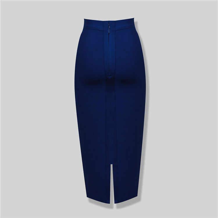 Nowa moda 8 kolorów Plus rozmiar XL XXL Sexy kolano długość bandaża spódnica kobiety elastyczna Bodycon lato spódnice ołówkowe 78 cm