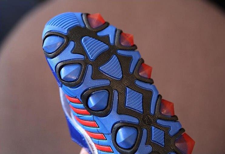 US $13.48 10% OFF|Kinder shoes luminous new fashion spiderman flashe sport turnschuhe für kinder stiefel marke licht jungen trainer mädchen tenis led