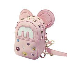 2016 новая мода заклепки Микки милый пакет пакета телефон цепи плеча пакет женская сумка прилив мешок студент zs429