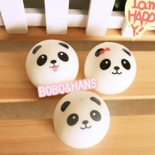 imágenes para Lindo bebé panda encanto blando / correa del teléfono móvil / venta al por mayor