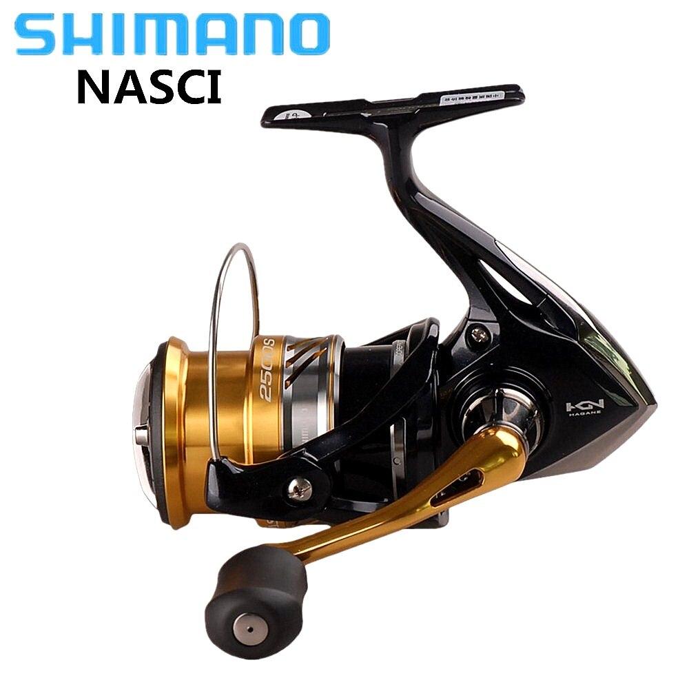 SHIMANO NASCI Spinning Reel Fishing 5BB 1000/C2000HGS/C3000HG/C3000 Hagane Vitesse Carretilhas De Pesca Eau De Carp, moulinet de pêche