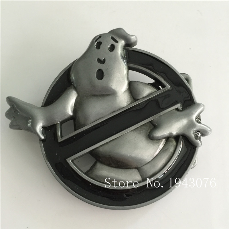 Retail Hot selling High Quality Ghost Buster Metal Belt Buckle With Fashion Mens Womens Jeans Accessories fit 4cm Wideth Belt