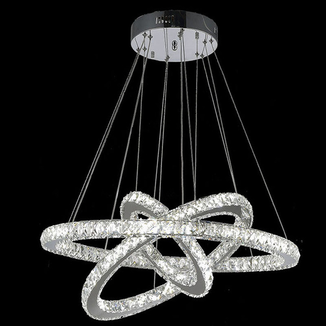3 Rings Crystal LED Chandelier Light Fixture Crystal Light Lustre     3 Rings Crystal LED Chandelier Light Fixture Crystal Light Lustre Hanging  Suspension Light Shiping by DHL