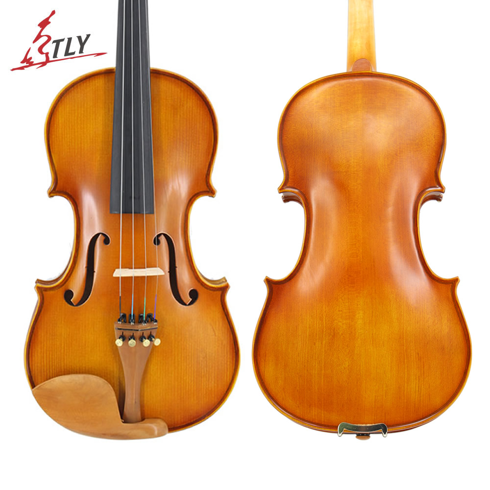 TONGLING Full Size Students Beginner Violin Matte Finish Spruce Face Maple Violin 1/8 1/4 1/2 3/4 4/4 Jujube Parts w/ Case Bow tongling brand natural flamed maple acoustic violin 4 4 3 4 antique matt violino full size musical instrument with accessories