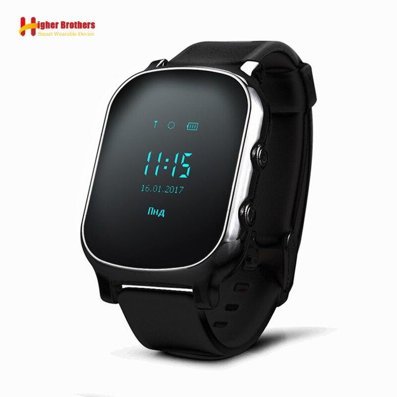 Intelligent Anti perdu enfant GPS WIFI Tracker SOS appel télécommande moniteur Position téléphone enfants bébé Smartwatch montre Compatible IOS Android
