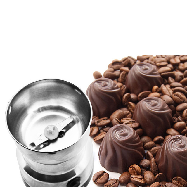 Coffee Grinder Stainless Electric Herbs/Spices/Nuts/Grains/Coffee Bean Grinding 4