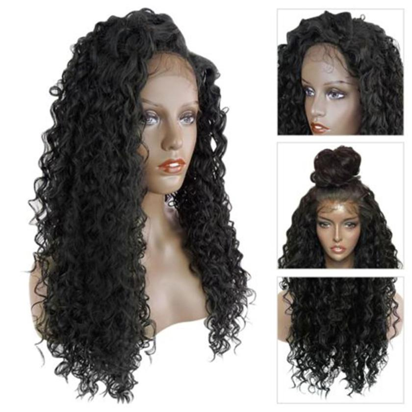 Ladies Fashion Women Charming Long Full Curly Wig Wavy Hair Brown Natural Full Wig Styling Accessory A17 curly long hair brown wig hood for women