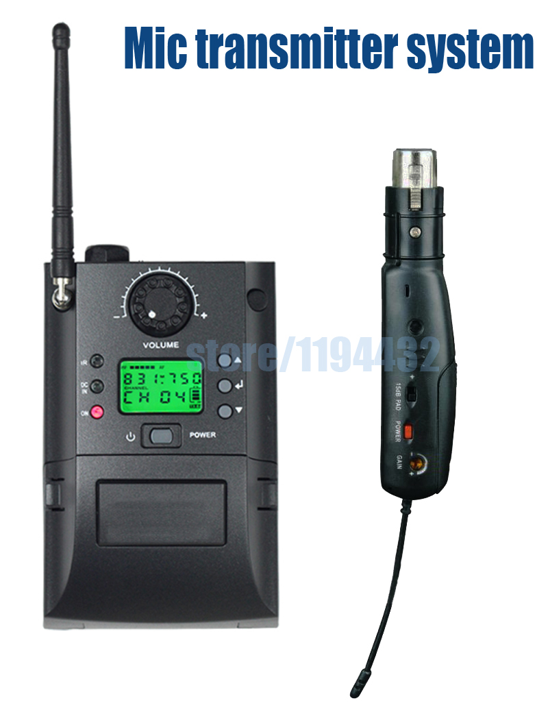 SKP 500 2000 G3 G4 UHF camera interview wired microphone audio instrument XLR plug on transmitter wireless system