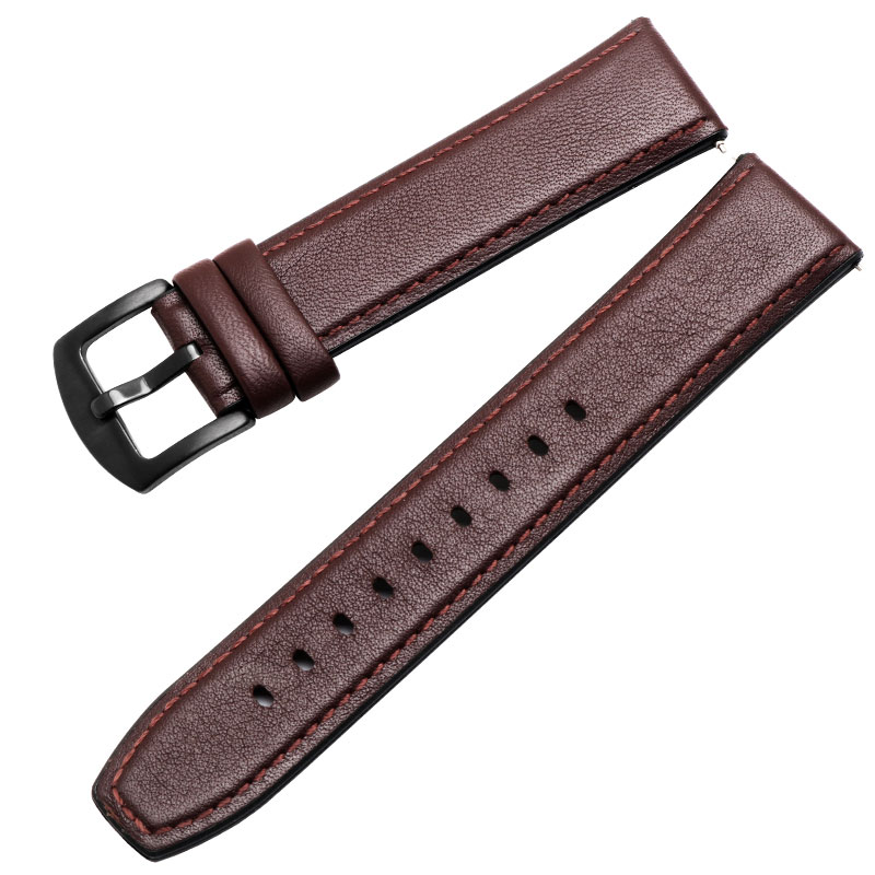 Image 5 - Watchband 22mm Silicone + Leather 2in 1 Strap Fashion Mens Replacement Wristband For Huawei watch Pro/GT Quick releaseWatchbands   -