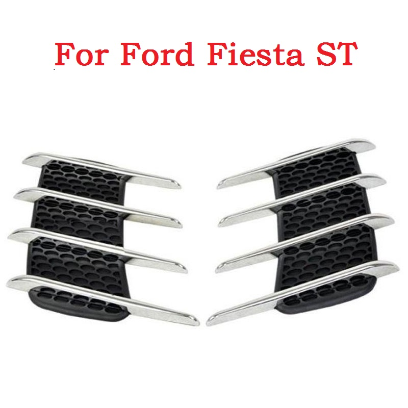 2017 New Car sticker Shark gills outlet decoration side draught hood vents air intake engine cover modified for Ford Fiesta ST