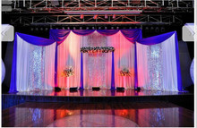 Luxurious Wedding Background backdrops Large Wedding Sequins curtain Triple parts wedding stage background