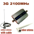 W-CDMA 2100Mhz Cell Phone Signal Amplifier 3G Repeater Mobile Phone 3G Signal Booster WCDMA Signal Repeater + 10m Cable +Antenna
