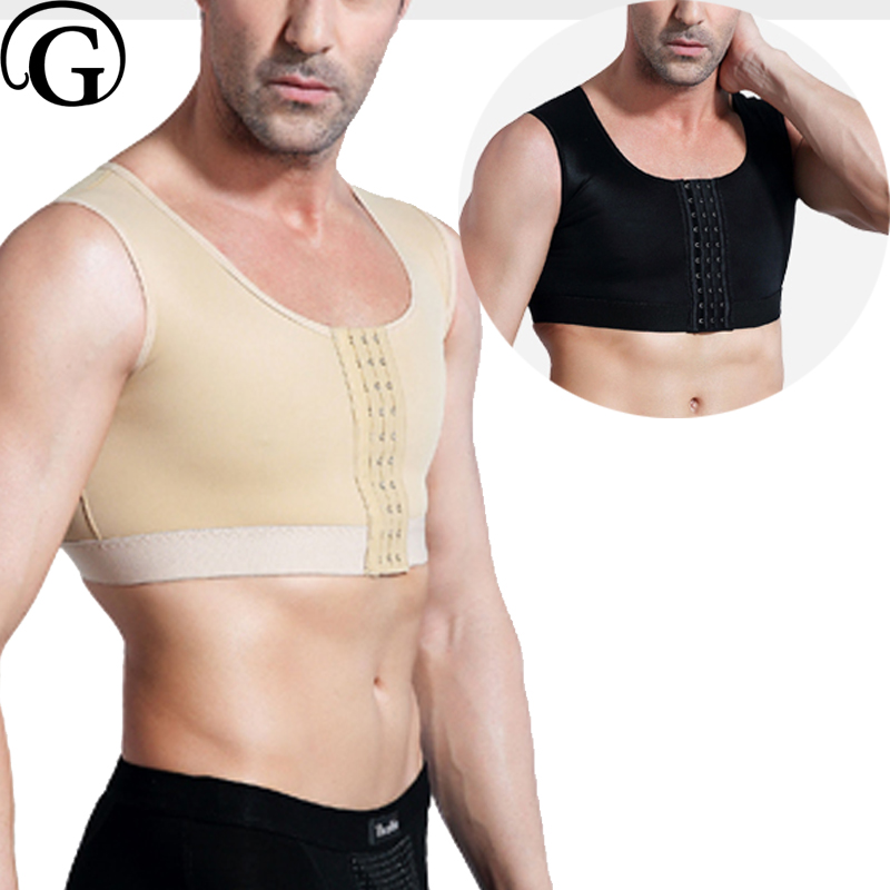 PRAYGER Men Gynecomastia Compression Boobs Body Shaper Medical Slimming Body Tank Tops Sleeveless Hook Control Chest Vest mathey tissot mathey tissot k153fmg