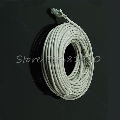 20M 65 FT RJ45 CAT5 CAT5E Ethernet Internet LAN Network Cord Cable Gray New Drop Shipping
