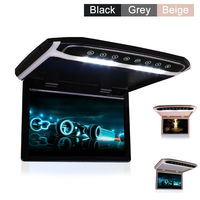Car Roof Mounted Overhead Flip Down MP4 MP5 Video Player 10 12 15 Inch HD LED Monitor with HDMI SD AV InPut 16GB Card and Reader