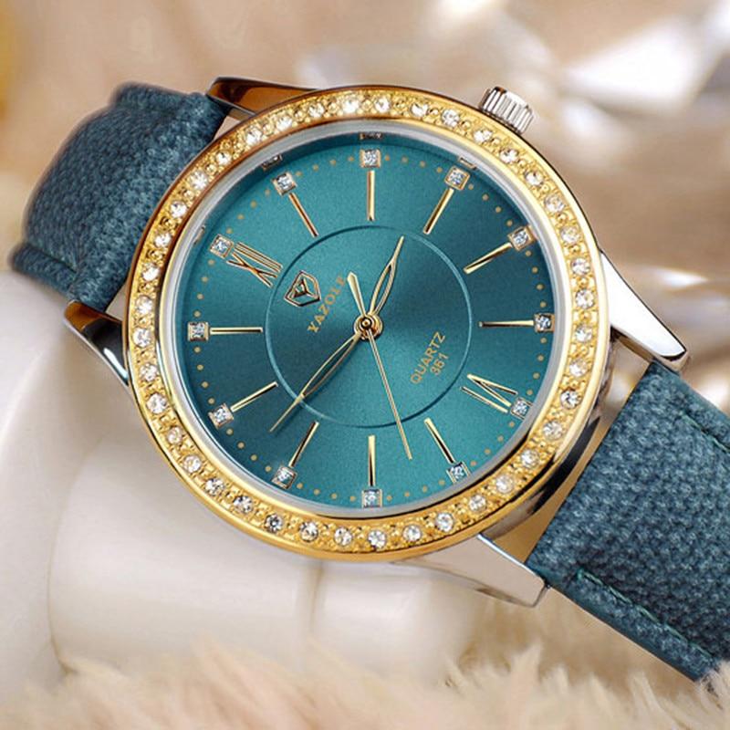 YAZOLE Gold Diamond Quartz Watch Women Ladies Famous Brand Luxury Golden Wrist Watch Female Clock Montre Femme Relogio Feminino 2016 yazole brand watches men women quartz watch female male wristwatches quartz watch relogio masculino feminino montre femme