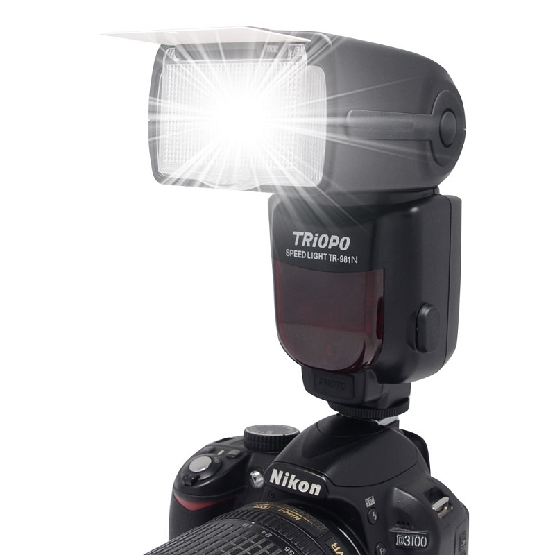 ФОТО Mcoplus TR-981 Flash i-TTL 1/8000s High-Speed Triopo Speedlite for Nikon D7100 D750 D7000 D5300 D800 D600 D90 D80