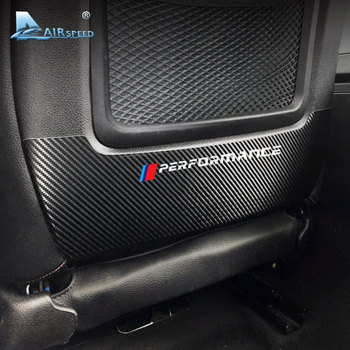Airspeed Car Front Seat Back Protective Carbon Fiber Vinyl Stickers Decor for BMW F20 F35 F30 Series 320 325 Car Accessories