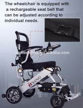 outdoor lightweight folding electric power wheel chair wheelchair capacity for disabled people