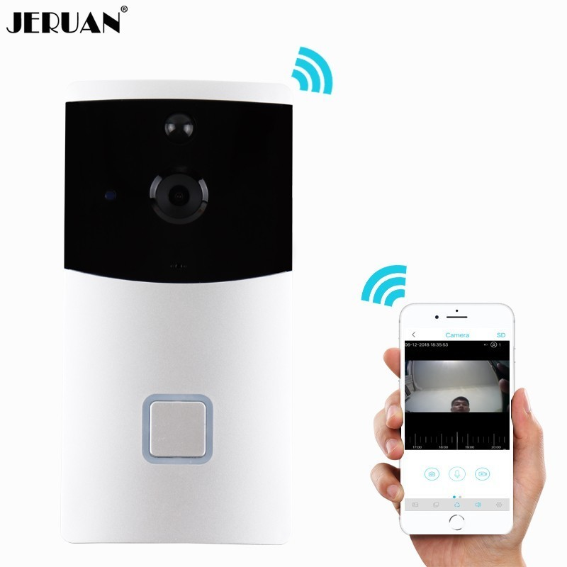 JERUAN 720P HD Wireless video Door phone Smart WiFi Camera Video Doorbell Security Camera with PIR Motion Detection Night VisionJERUAN 720P HD Wireless video Door phone Smart WiFi Camera Video Doorbell Security Camera with PIR Motion Detection Night Vision