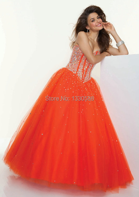 Fabulous Beaded Sweetheart Sexy Open Back Lime Green Orange Melon Tulle  Ball Gown Quinceanera Dress Sweet 16 Prom Gown. dbbb23a81b1f