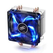 DEEPCOOL GAMMAXX 400 процессор кулер 4 тепловых PWM вентилятор Intel LGA1151 AMD AM4 12 см синий светодиодный Светодиодный радиатор игровой Настольный ПК De-Vibration