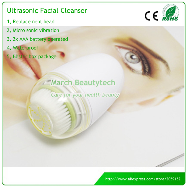Mini Electric Face Scrubbing Sonic Facial Pores Deep Cleansing Rotary Brush Cleaner Replacement Head touchbeauty 2 in 1 electric sonic facial cleanser two optional working speeds face cleansing brush and powder puff tb 1289