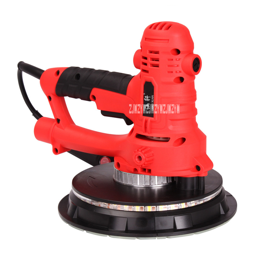 New 180C Self-priming Clean Wall Sandpaper Machine Wall Grinder Putty Sand Grinding Machine With 360 Degree LED Light 220v 1260W new japan makita 9035 flat type sandpaper machine 9035h woodworking polishing sanding machine vibration grinding 160w 180w