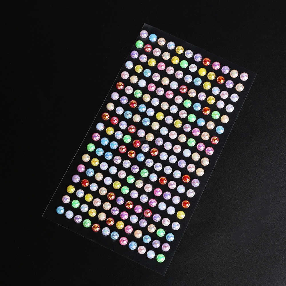 ... 260pcs sheet Scrapbook Imitation Pearls stickers Acrylic Self Adhesive  Accessories Personalized Diamond Laptop Skins Photo ... dca89fe46881