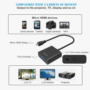 Image 2 - 1080P Micro HDMI zu VGA Video Converter Adapter Kabel Für PC Monitor Projektor