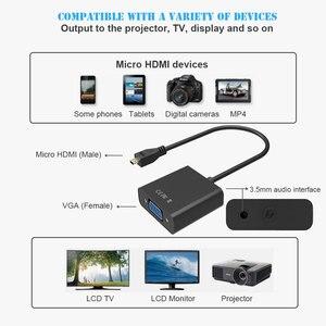 Image 2 - 1080P mikro HDMI VGA Video dönüştürücü adaptör kablosu PC monitör projektör için
