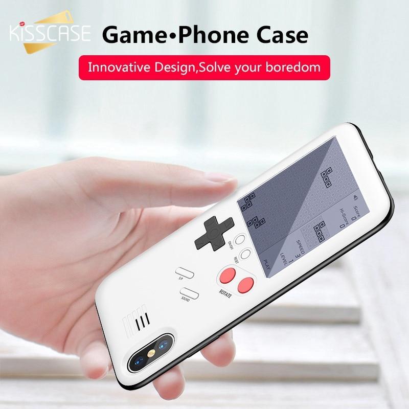 Máquina de Jogo Caso de Telefone Para o iphone 6 BEIJOS 6 S 7 6 8 Plus X Game Console Caso Para iPhone 6 S Plus 7 8 Plus X Capinha Caso Coque