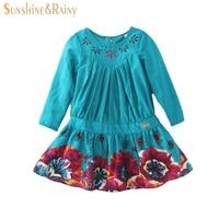 Girls Dresses Baby Girl Long Sleeve Dress Cotton Dress For Girl Children Clothes New Design Kids