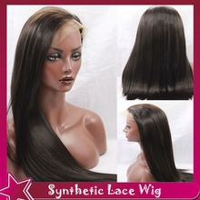 2# Picture Silky Straight Synthetic Hair Wigs Synthetic Lace Front Wig Free Part Natural Cheap No Lace Wigs for Black Women