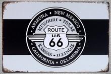 1 pc Arizona New Mexico Route 66 California Texas Tin Plate Sign wall man cave Decoration Man Art Poster metal vintage