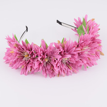 CXADDITIONS Boutique Girls Hair Accessories Wedding Floral Flower Crown Headbands Multicolor Hairband For Christmas Women