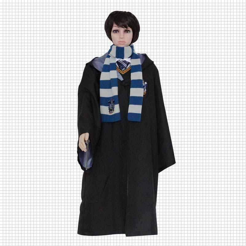 6f701886d63df Harri Potter Adult Kids Robes Cloaks Ties Scarfs Hats Cosplay Costumes  Gryffindor Hufflepuff Clothes Socks Hermione Scarves