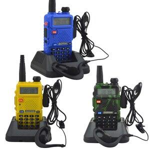 Image 3 - Baofeng walkie talkie uv 5r dualband hai cách phát thanh VHF/UHF 136 174 MHz & 400 520 MHz FM Thu Phát Cầm Tay với tai nghe