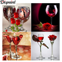 Dispaint Full Square/Round Drill 5D DIY Diamond Painting Cup flower scenery 3D Embroidery Cross Stitch 5D Home Decor Gift dispaint full square round drill 5d diy diamond painting hedgehog cup 3d embroidery cross stitch 5d home decor a12359