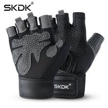 Перчатки skdk дышащие для фитнеса и спортзала с поддержкой запястья
