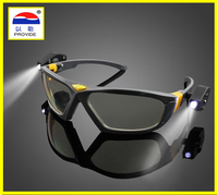 801D LED Lights Safety Goggles Night Reading Eye Glasses For Safe Industrial Work Car Repair Outdoor