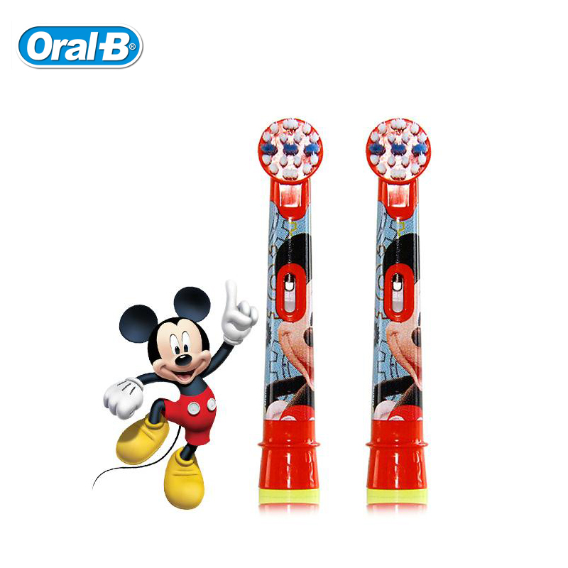 Oral B EB10 Electric Toothbrush Heads replacement Children Replaceable Brush Heads Soft Bristle 2 heads/pack 2pcs philips sonicare replacement e series electric toothbrush head with cap