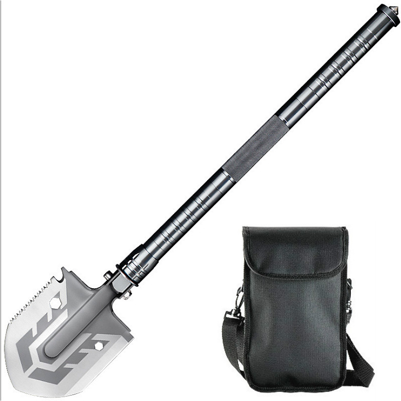 Tactical folding shovel 58 HRC military folding shovel lifter mounted shovel for fishing outdoor emergency camping gear