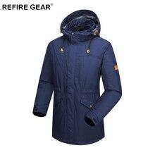 Refire Gear 3 In 1 Winter Warm Fleece Hiking Jacket Men Hooded Waterproof Hunting Jacket Thermal Skiing Camping Windbreaker Coat недорого