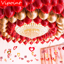 VIPOINT PARTY 100pcs 5inch 10inch red latex balloons wedding event christmas halloween festival birthday party PD-126