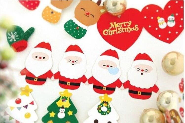 10Pcs/Set 5 Cards +5 Envelopes Mini Folding Christmas Card/Greeting Card/Wish Card/Christmas And New Year Gifts