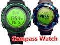 Top selling men's digital compass sports watches for women hikking 50M waterproof led watch man multiple time zone SPORT watches