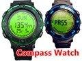 Vendidos de hombre brújula digital relojes deportivos para mujeres hikking 50 M impermeable led hombre reloj zona horaria múltiple relojes DEPORTIVOS